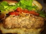 Monsoon Bacon Swiss Burger Cut