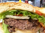 Gully's Grilled Burger Cut